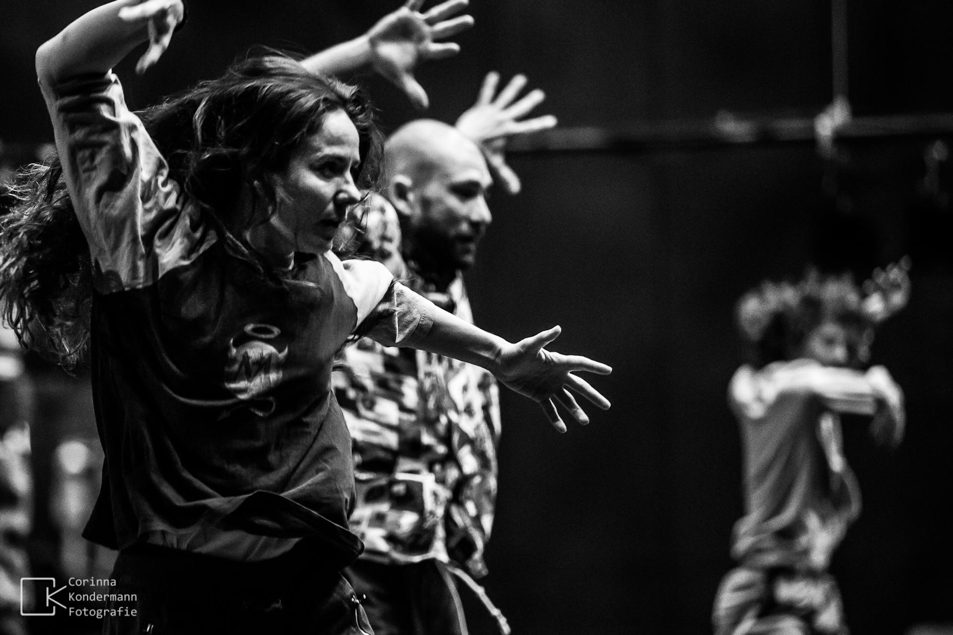 Christina Mertzani and Luca Gentini in Rehearsal from